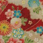 1133BR-B gold sakura clouds colorful japanese pattern wholesale 36M (Sevenberry)