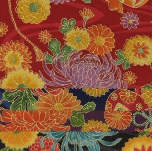 1133BR-D chrysanthemum flower Japan cotton fabric wholesale 36M (Sevenberry)