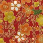 1134BR-A Cherry blossom, Shochikubai japan pattern fabric wholesale (Sevenberry)