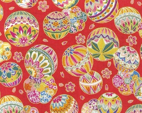 1134BR-B Mari ball, Sakura flower japan pattern fabric cotton whoesale (Sevenberry)