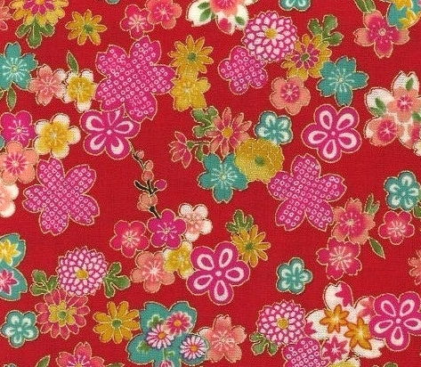 1135BR-A Sakura japan floral pattern colorful wholesale fabric (Sevenberry)