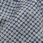1135NJ Printed Kanoko traditional Japanese pattern like indigo fabric 11M