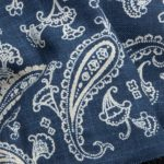 1136NJ Like indigo Paisley pattern Japan cotton fabric wholesale 11M