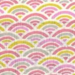 1138BR-D Colorful SEIGAIHA wave traditional japan pattern fabric wholesale(Sevenberry)