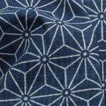 1139NJ like indigo Asanoha japan traditional pattern cotton fabric