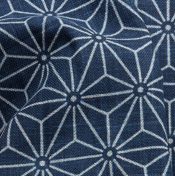 1139NJ like indigo Asanoha japan traditional pattern cotton fabric