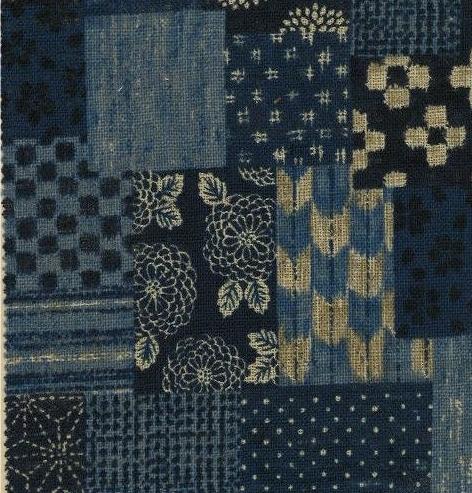 1140BR-A like patchwork, brandnew Japan cotton fabric like boro wholesale 53M (Sevenberry)