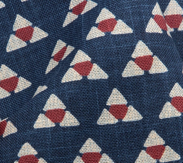 1140NJ Mitsuuroko Japan pattern like indigo wholesale fabric 11M