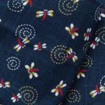 1141NJ like indigo Dragonfly insects pattern wholesale 11M
