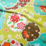 HJ2031 New Japanese retro Classic pattern cotton fabric sell by the roll