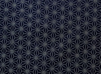 HJ2042 ASANOHA pattern Printed Kasuri japan fabric 36M