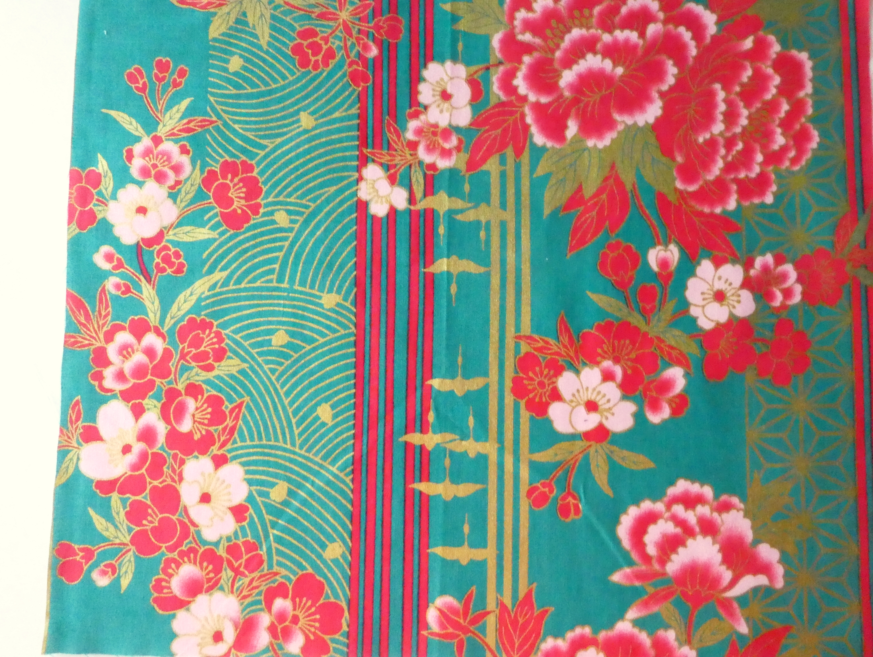 HJ2043 Colorful gorgeous gold japan fabric cotton 100% 36M wholesale