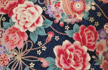 HJ2060 Floral pattern japan cotton fabric sell by the bolt