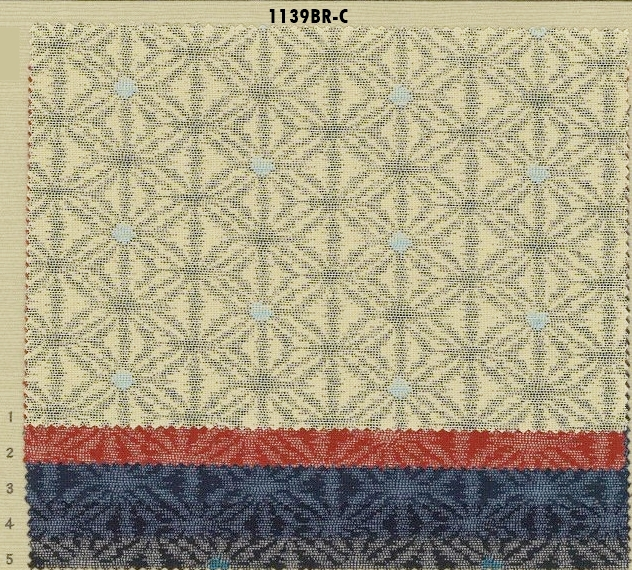 1139BR-C ASANOHA kasuri pattern Japan fabric (Sevenberry)38M,10M