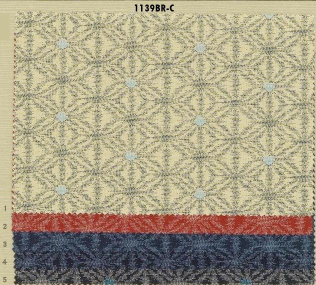 1139BR-C ASANOHA kasuri pattern Japan fabric (Sevenberry)38M,10M