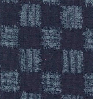 1139BR-D Ichimatsu checkered kasuri pattern traditional Japan fabri(Sevenberry)38M,10M
