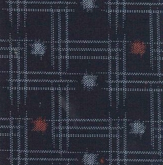 1139BR-E Kasuri Japanese like pongee fabric (Sevenberry)38M,10M