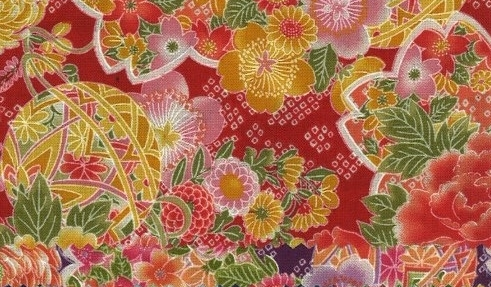 850275 -2 Cherry blossom Mari ball Japan fabric  (Sevenberry)10,36M