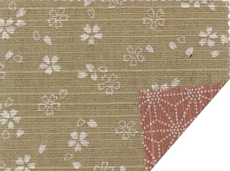 88235-1 Reversible Cherry blossom & Asanoha traditional Japan fabric(Sevenberry)10,52M