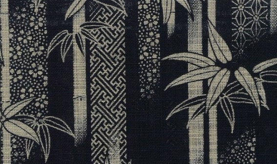 88334#1 Like Indigo dye bamboo Japan Pattern fabric (Sevenberry)10,53M