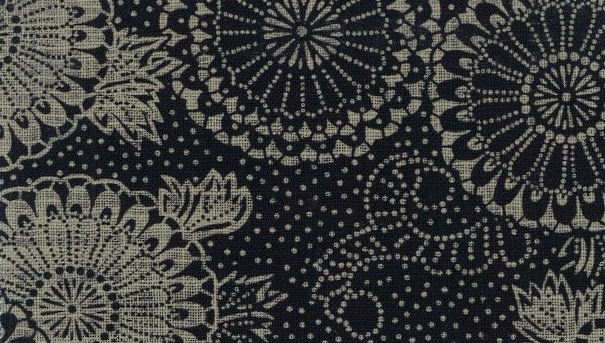 88334 #3 Like Indigo chrysanthemum Japan cotton fabric (Sevenberry)10,53M