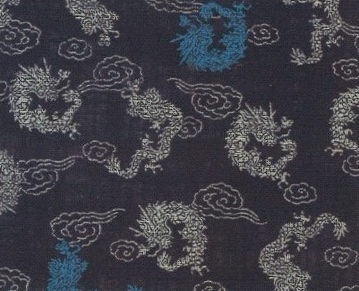 88335 #3 Like Indigo Dragon cloud Japan Pattern fabric (Sevenberry)10,53M