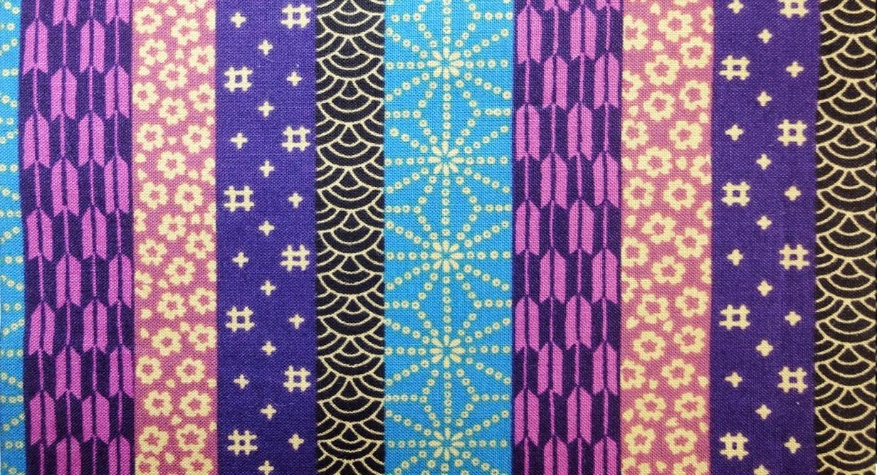 HJ2068 Printed Patchwork yagasuri asanoha Japan cotton fabric