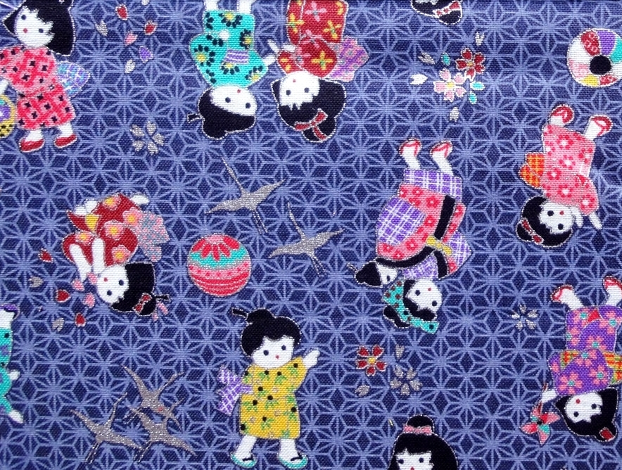 HJ2069 Children kids pattern asanoha japanese pattern fabric