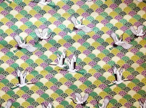 HJ2070 Crane Chrysanthemum Japan pattern bird wholesale fabric