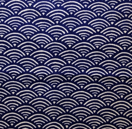 HJ2077 SEIGAIHA wave japan pattern traditional fabric 36M