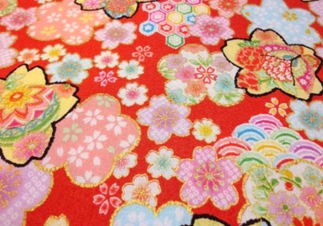 HJ2082 Lovely Sakura Japanese pattern fabric