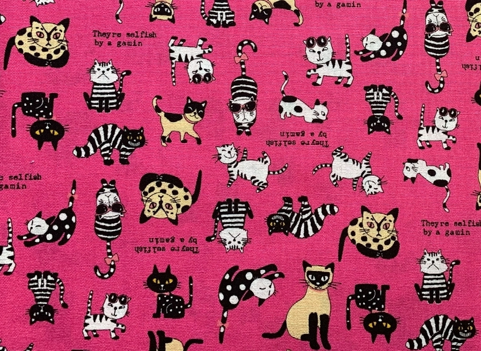HJ2083 Funny CAT Japan wholesale animal printed fabric 36M