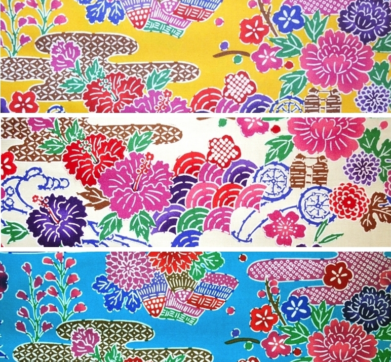 HJ2088 BINGATA style printed japan cotton fabric
