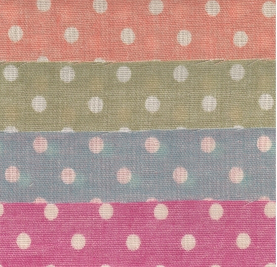 HJ2091 Polka Dots Japan printed double gauze fabric 10 colors wholesale