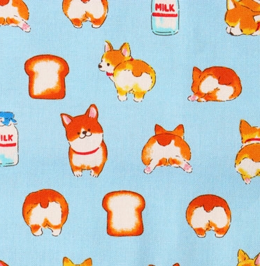 CM40001 DOG shibainu kawaii pattern printed fabric(COSMO textile)