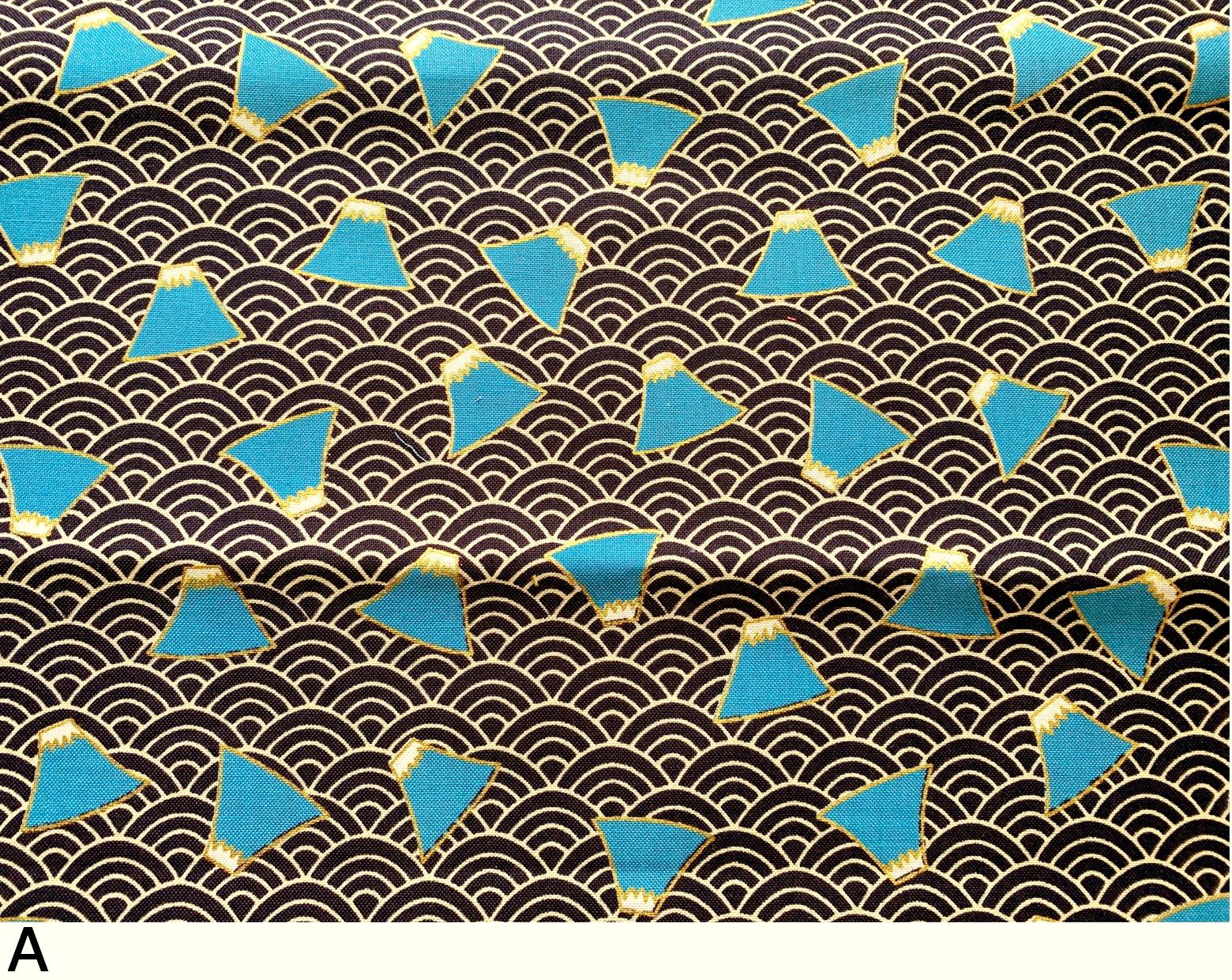 HJ2098 Mt.Fuji seigaiha Mountain Japanese pattern fabric