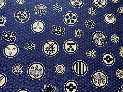 HJ2099 Mon Kamon Asanoha Japanese pattern fabric