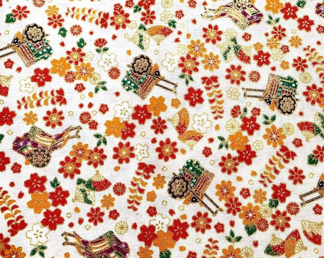 HJ2104 Japan ancient carriage fabric sakura