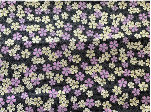 HJ2109 Cherry blossom Asanoha Japan pattern fabric sell by the roll.