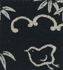 88223-D11 Like Indigo CHIDORI bird Japan fabric (Sevenberry 13M, 53M)