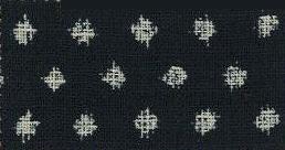 88223-D13 Like Indigo Yukimon gasuri pattern fabric Japan (Sevenberry 13M, 53M)