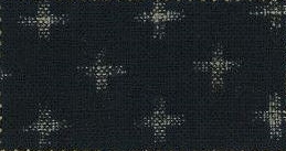 88223-D23 Like Indigo Cross pattern fabric Japan (Sevenberry 13M, 53M)