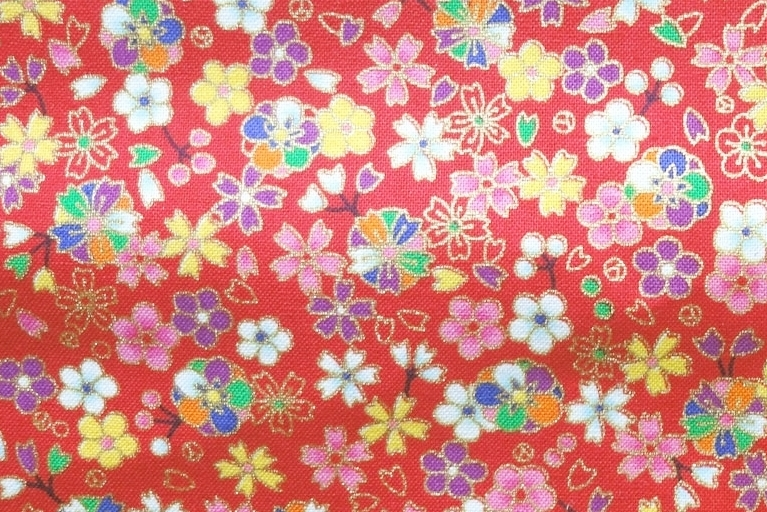 HJ2113 small floral pattern cherry blossom sell by the roll(36M)