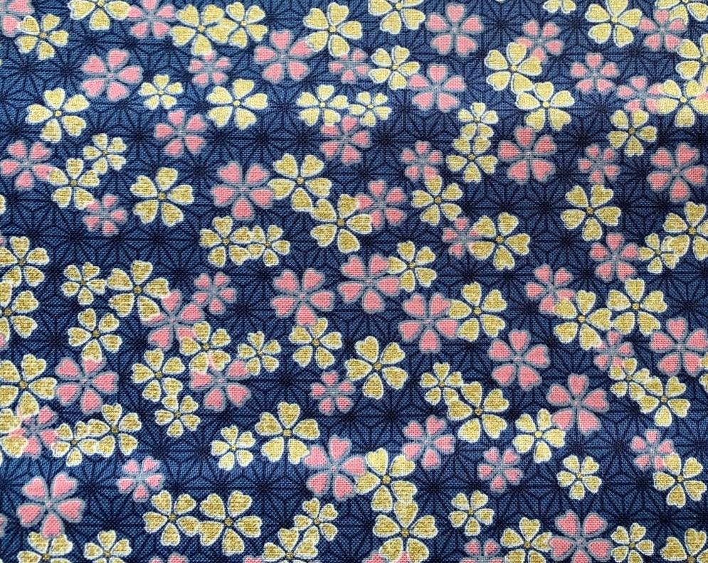 HJ2114 Cherry blossom Asanoha japan fabric wholesale