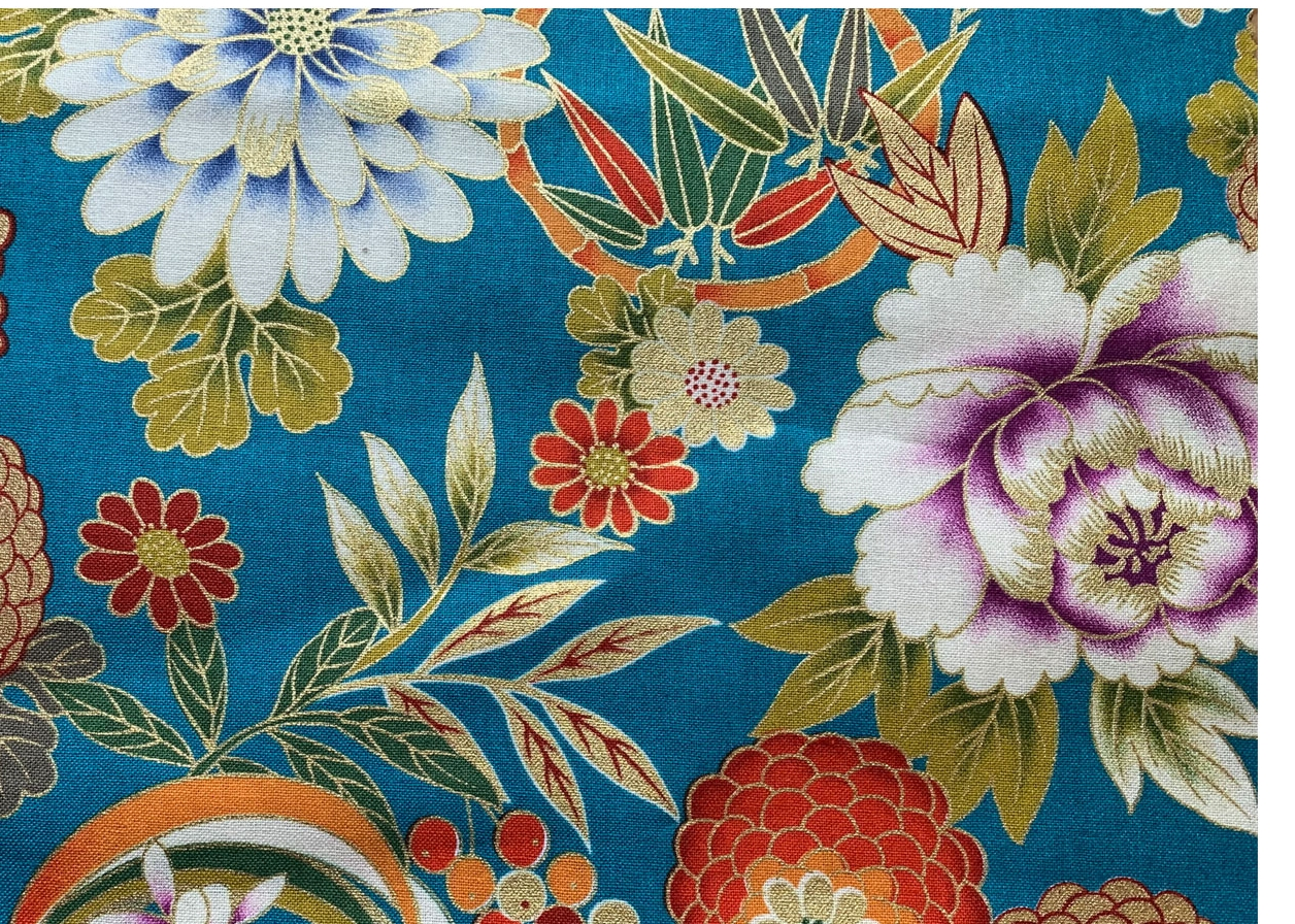 HJ2119 Gold gorgeous floral pattern japanese traditional pattern fabric