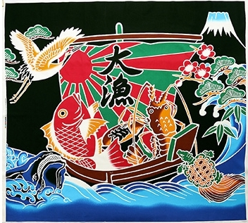 CO4003 flag  fishing boat flags Japan fabric(COSMO textile)