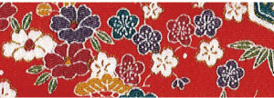 CR1045 CHIRIMEN CREPE printed pram blossom pattern flowers fabric wholesale 12M