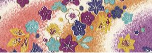 CR1047 CHIRIMEN CREPE Japan pattern flowers fabric wholesale 12M