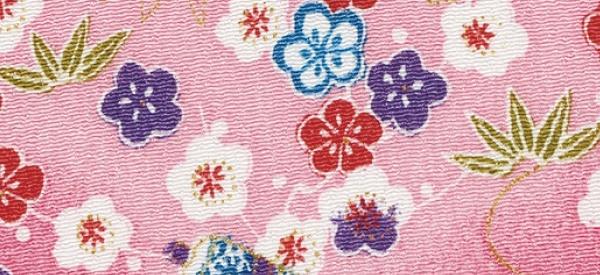 CR1051 CHIRIMEN CREPE Japan plum blossom bamboo fabric wholesale 12M
