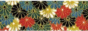 CR1064 CHIRIMEN CREPE Like kimono chrysanthemum Japan fabric wholesale 12M